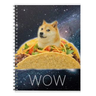 Cadernos Espiral Taco do Doge - doge cão-bonito do doge-shibe-doge