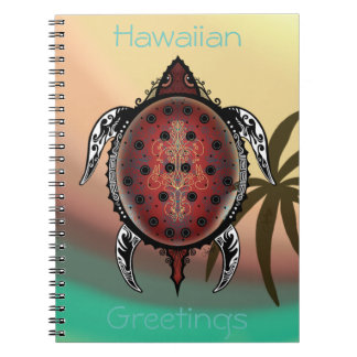 Cadernos Espiral Tatuagem da tartaruga da fantasia