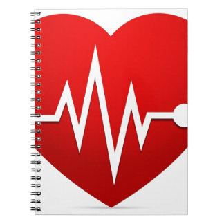 Cadernos Espiral Taxa do batimento cardíaco