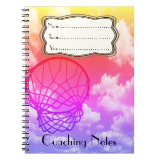 Cadernos Espiral Tema de treinamento das notas do Netball