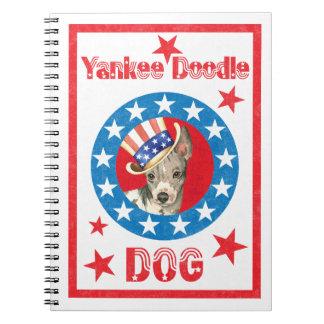 Cadernos Espiral Terrier calvo americano patriótico