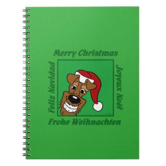 Cadernos Espiral Terrier irlandesa Weihnacht