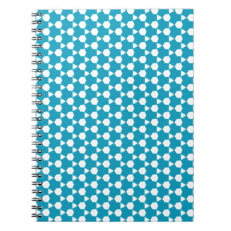 Cadernos Espiral Teste padrão abstrato 1 de turquesa