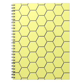 Cadernos Espiral Teste padrão amarelo do favo de mel