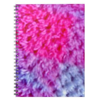 Cadernos Espiral Teste padrão cor-de-rosa do deslizador