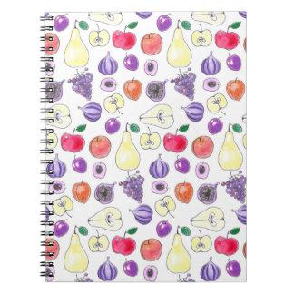 Cadernos Espiral Teste padrão da fruta