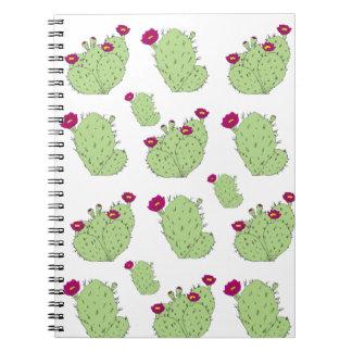 Cadernos Espiral Teste padrão da pera espinhosa