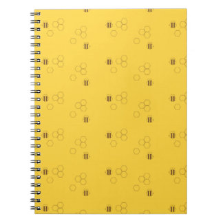Cadernos Espiral Teste padrão do favo de mel da abelha