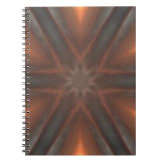 Cadernos Espiral teste padrão do lenço da queda do vintage