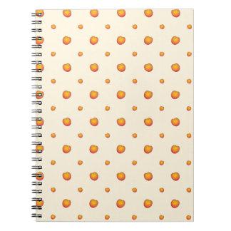 Cadernos Espiral Teste padrão do pêssego