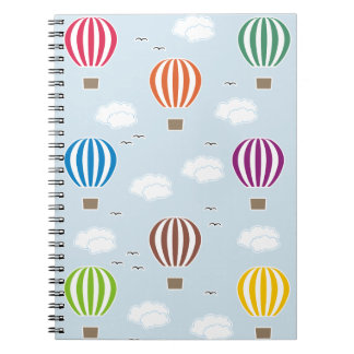 Cadernos Espiral Teste padrão dos balões de ar