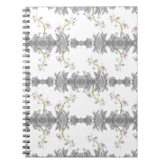 Cadernos Espiral Teste padrão floral da colagem