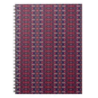 Cadernos Espiral Teste padrão floral étnico abstrato colorido da