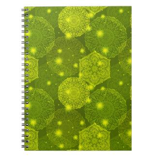 Cadernos Espiral Teste padrão luxuoso floral da mandala