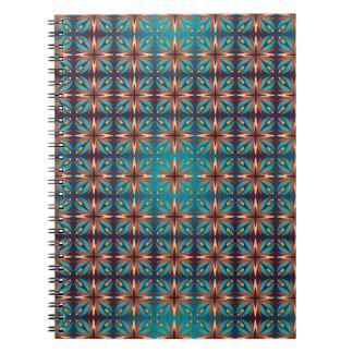 Cadernos Espiral Teste padrão sem emenda retro geométrico abstrato