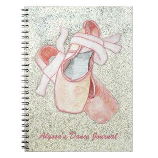 Cadernos Espiral Texto do costume do jornal do dançarino da arte da