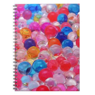 Cadernos Espiral textura colorida das bolas da geléia