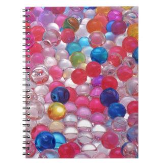 Cadernos Espiral textura das bolas da geléia do colore