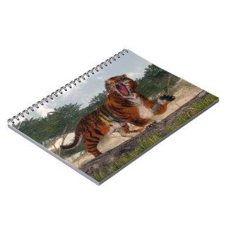Cadernos Espiral Tigre que ruje - 3D rendem
