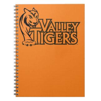 Cadernos Espiral Tigres do segundo grau do vale