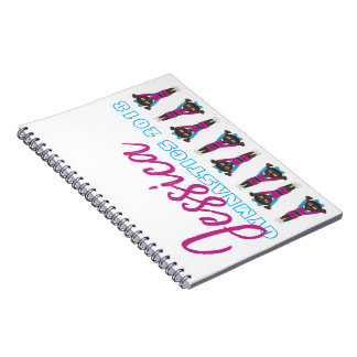 Cadernos Espiral Treinador de caída personalizado do Gym da