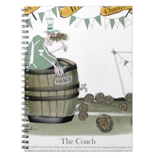 Cadernos Espiral treinador de futebol irlandês