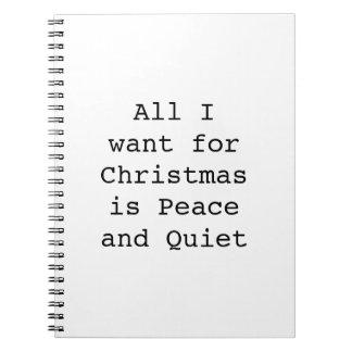 Cadernos Espiral Tudo que eu quero para o Natal é paz e silêncio