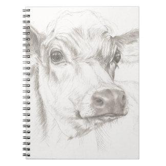 Cadernos Espiral Um desenho de uma vaca nova