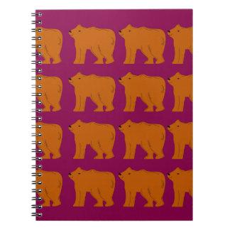 Cadernos Espiral Ursinhos polares no rosa