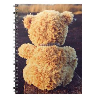 Cadernos Espiral Urso de ursinho bonito