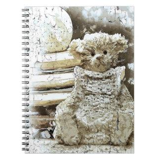 Cadernos Espiral Urso e livros de ursinho do vintage