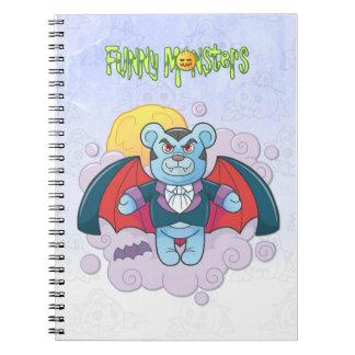 Cadernos Espiral Vampiro do urso de ursinho
