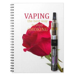 Cadernos Espiral Vaping é a melhor maneira de parar de fumar