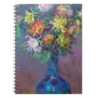 Cadernos Espiral Vaso dos crisântemos Claude Monet