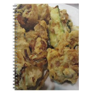 Cadernos Espiral Vegetais crocantes panados e fritados com limão