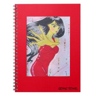 Cadernos Espiral Vermelho de Emiko
