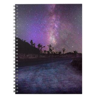 Cadernos Espiral Via Láctea do parque nacional de árvore de Joshua
