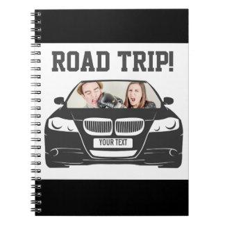 Cadernos Espiral Viagem por estrada feita sob encomenda engraçada