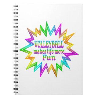 Cadernos Espiral Voleibol mais divertimento