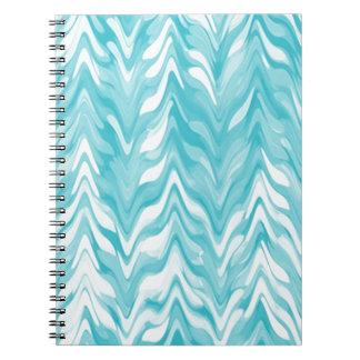 Cadernos Espiral ziguezague, aguarela, elegante, na moda