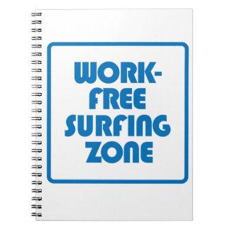 Cadernos Espiral Zona surfando livre do trabalho
