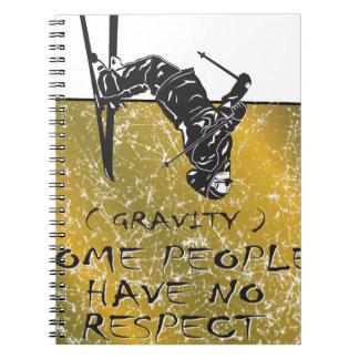 Cadernos Esquiador da gravidade