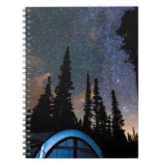 Cadernos Estrela clara de acampamento da estrela brilhante