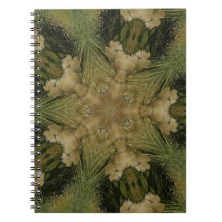 Cadernos Estrela do design do caleidoscópio do verde de