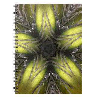 Cadernos Estrela elegante do Natal do caleidoscópio da