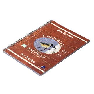 Cadernos Etiqueta da cerveja de vidoeiro do Chickadee