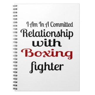 Cadernos Eu estou em uma relação cometida com luta do