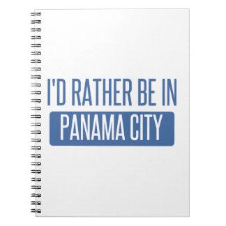 Cadernos Eu preferencialmente estaria na Cidade do Panamá
