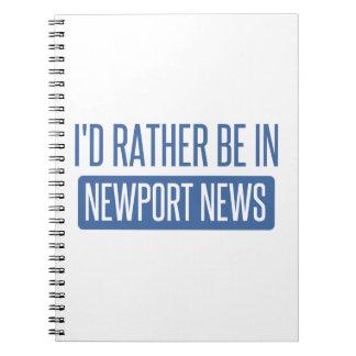 Cadernos Eu preferencialmente estaria na notícia de Newport