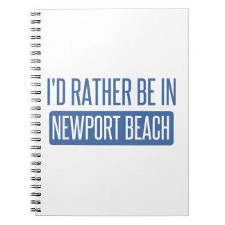 Cadernos Eu preferencialmente estaria na praia de Newport